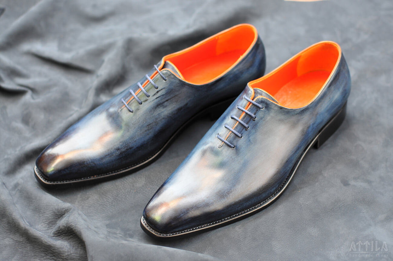 Goodyear Whole Piece Balmoral blue shoes
