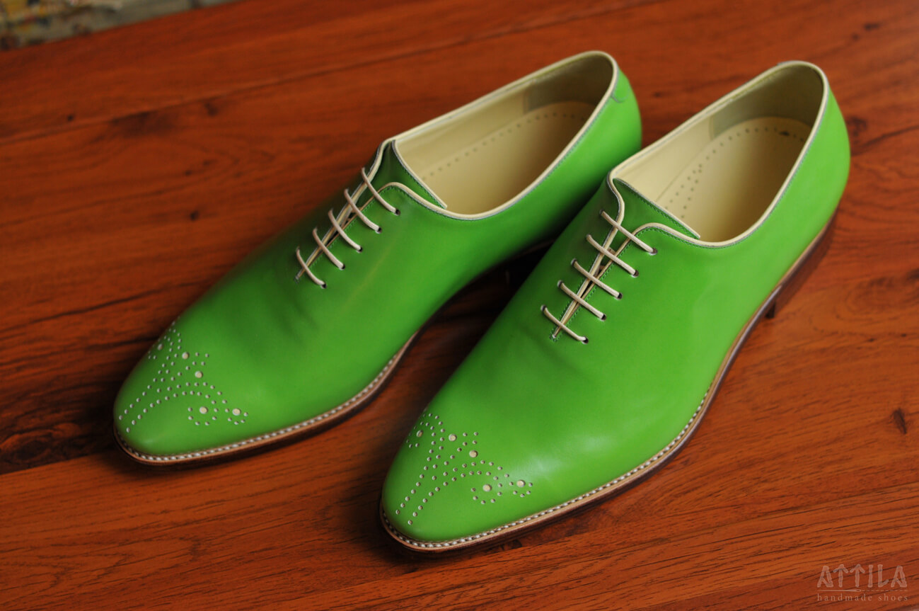 Goodyear Whole Piece Balmoral green shoes