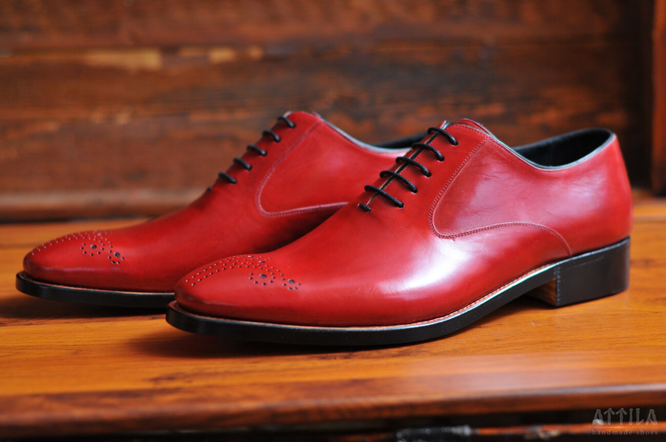 Goodyear Whole Piece Balmoral red shoes