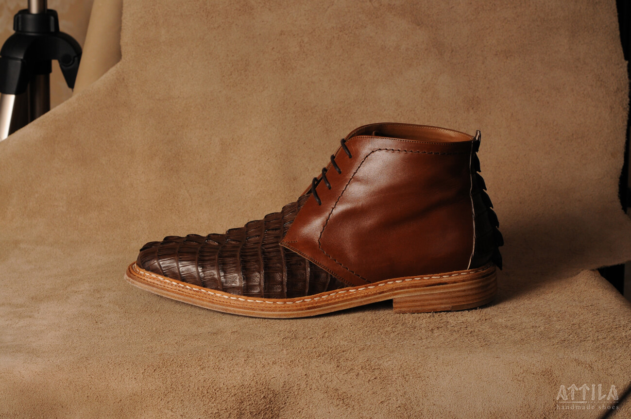 Boots_Cajman Crocodille boots 10
