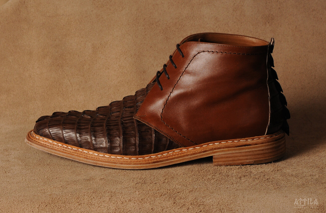 6. Cayman crocodile boots