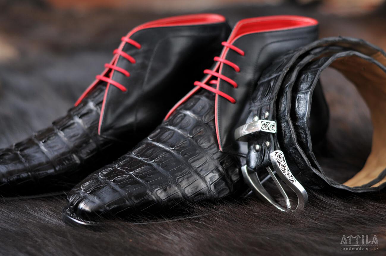 Boots_Cajman Crocodille boots 6
