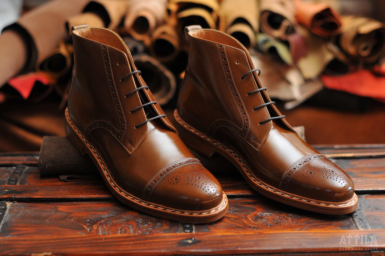 12. Derby Semi Brogue boots
