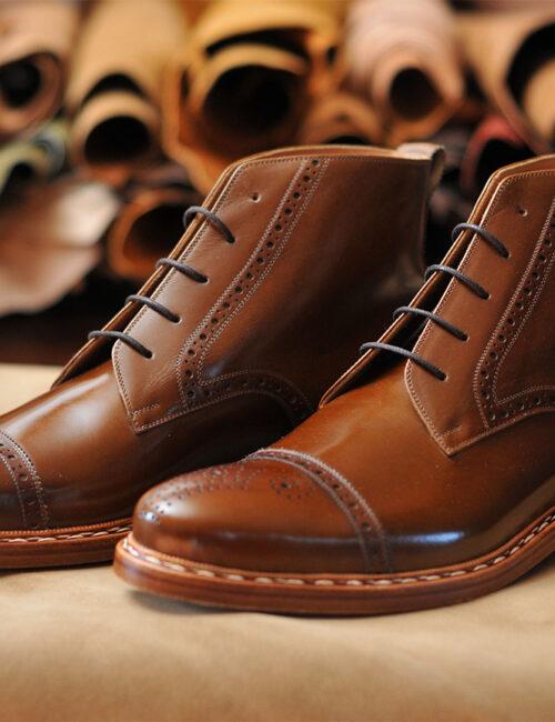 Derby Semi Brogue boots