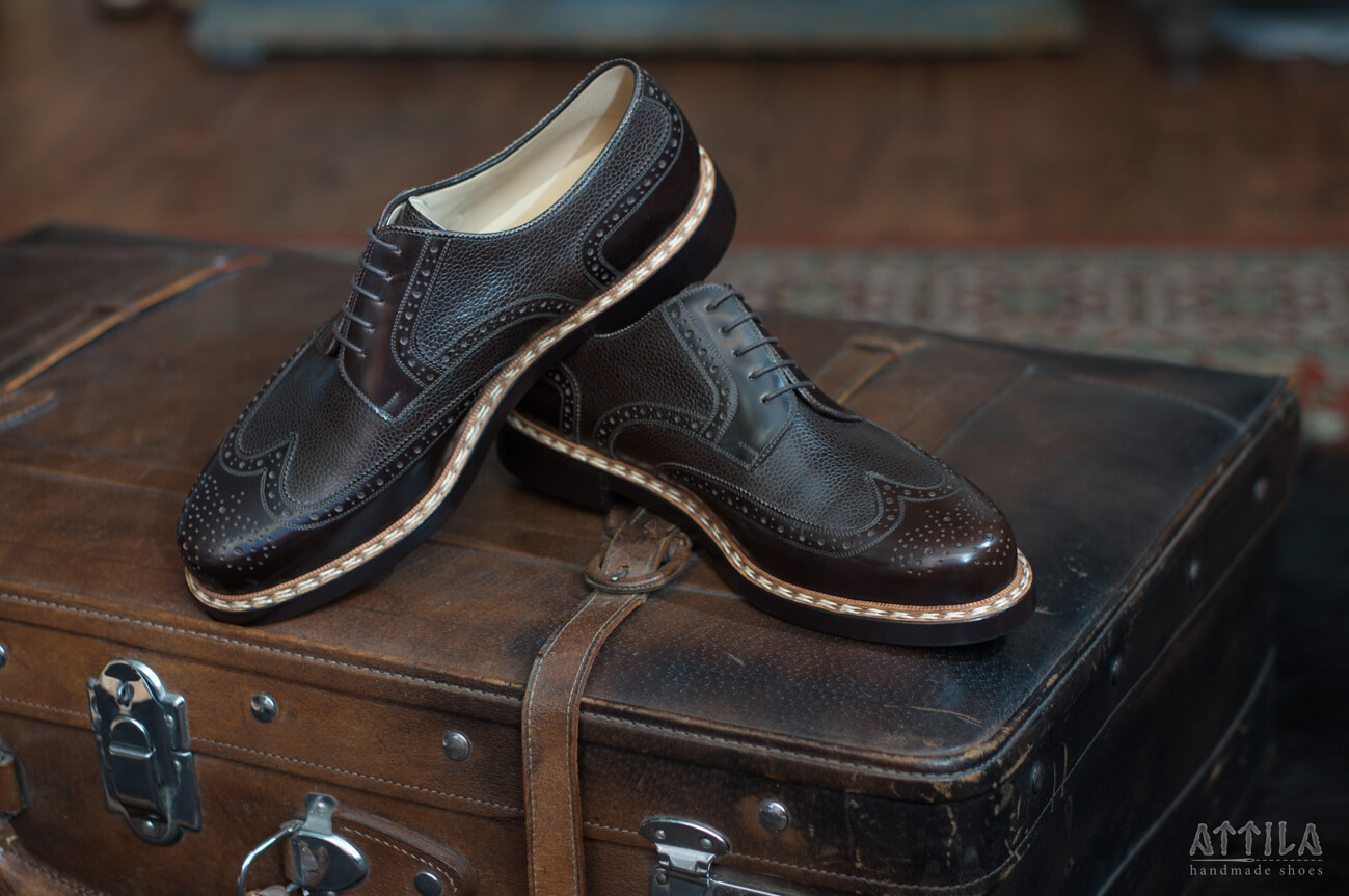 6. Derby full brogue Budapest brown