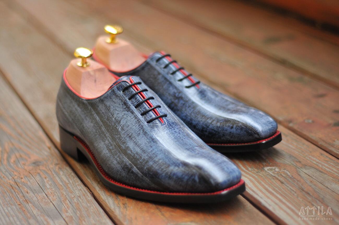 11. Eel antique blue shoes