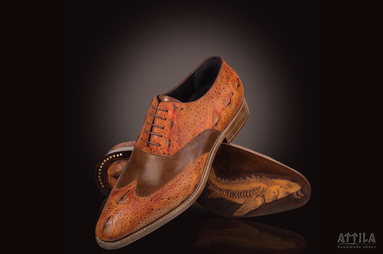Golden award 2019 | Sturgeon fish leather shoes