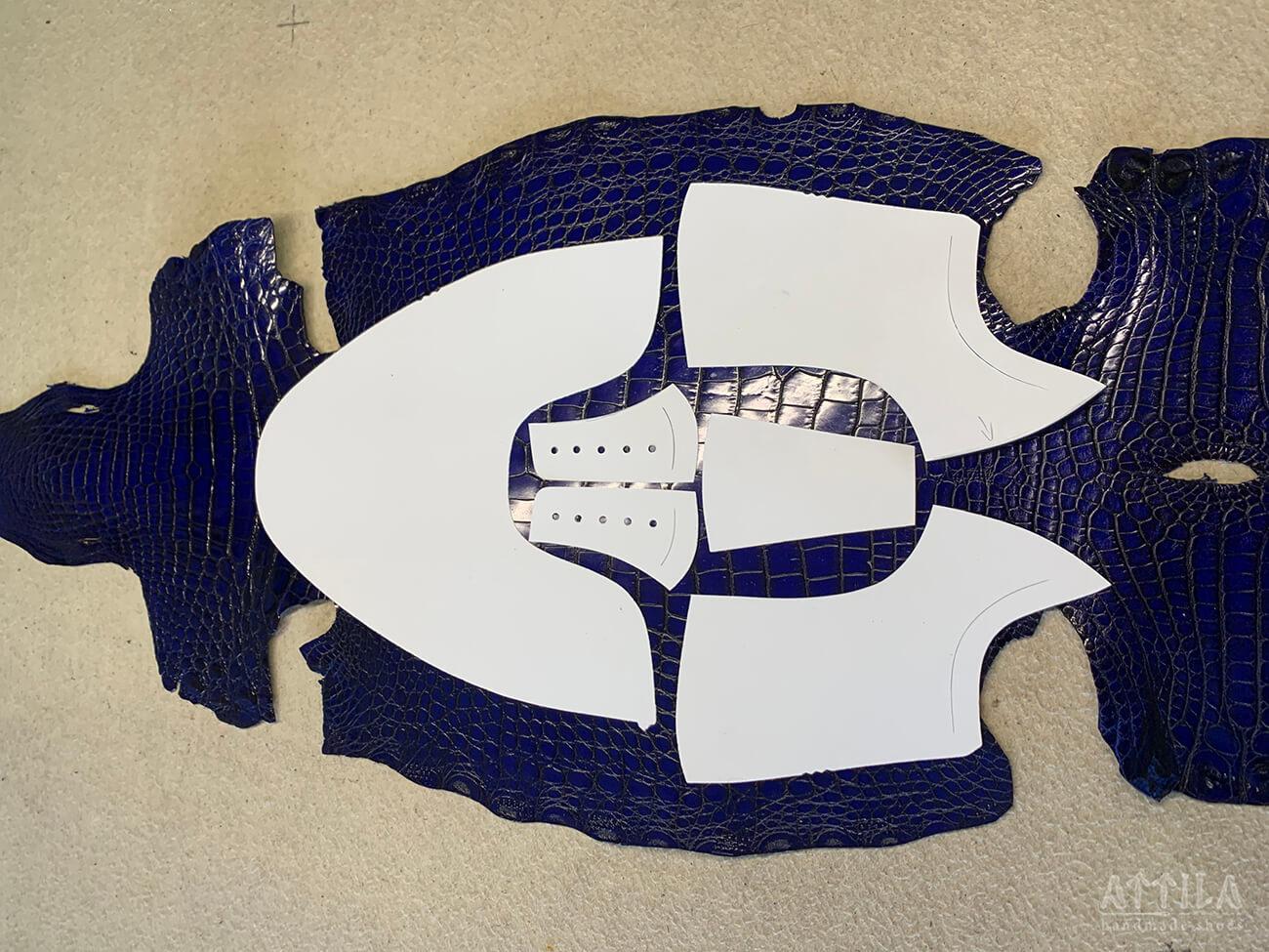 4. A cipő alkatrészeinek szabása / Tailoring of shoe parts